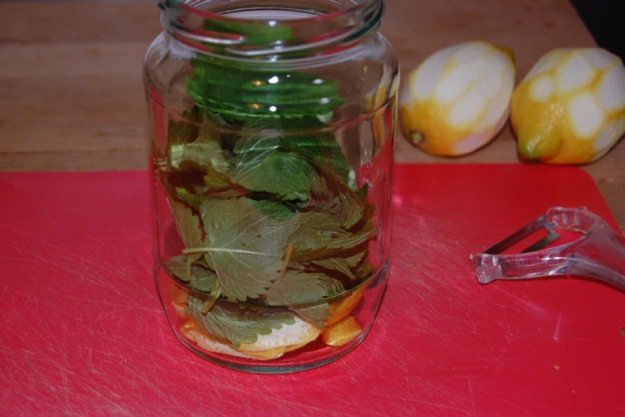 How to make Lemon Vinegar - recipe method